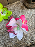 Simple Large Two Orchid Hair Clip