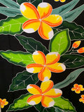 Hand Painted 3 Orange Plumeria Premium Rayon Pareu