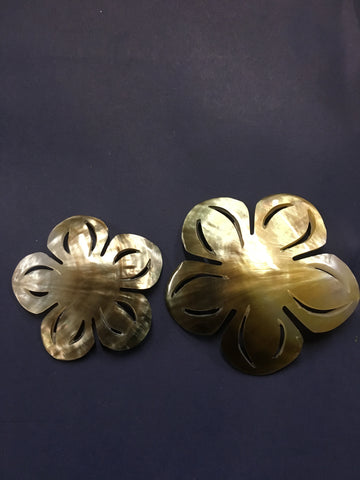 Mother of Pearl Plumeria with Slits Flower Shell