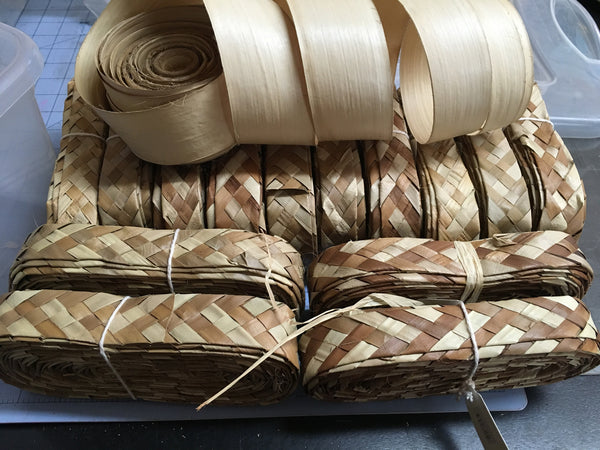 "Buri weave- 1"" wide, 10 yards long"
