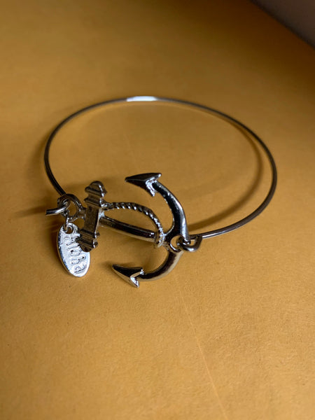 Cable Bracelet- Anchor