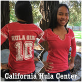 Ladies Football Jersey Tee - Hula Girl