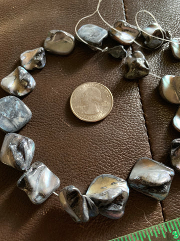 Mother of Pearl Large Rough Shell Pieces Strand