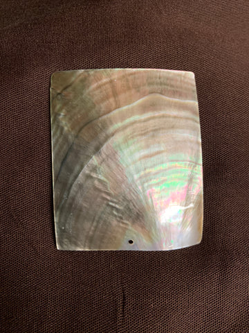 Black Lip Mother Of Pearl Rectangle Shell