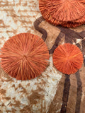 Raffia Circles- Orange