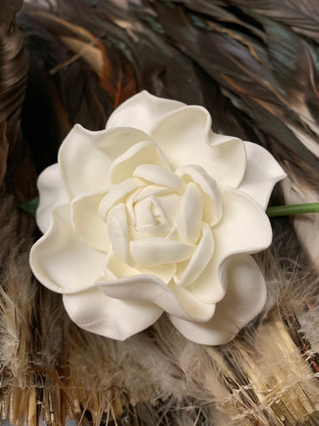 Real Touch Gardenia Hair Flower Pick