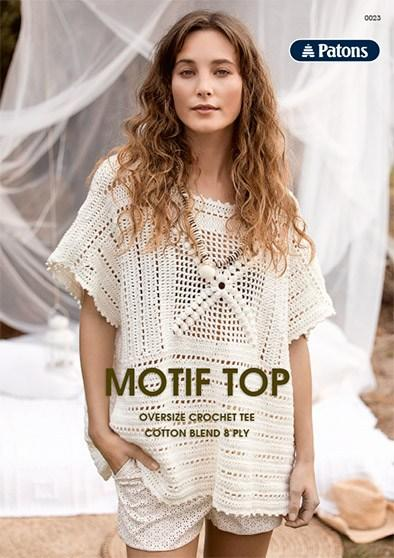 CROCHET MOTIF TOP PATTERN