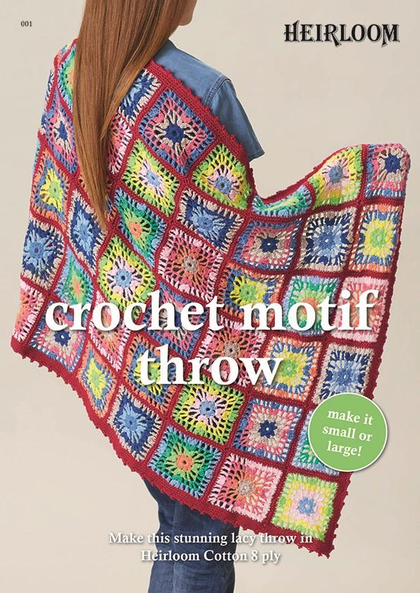 CROCHET MOTIF THROW - PATTERN