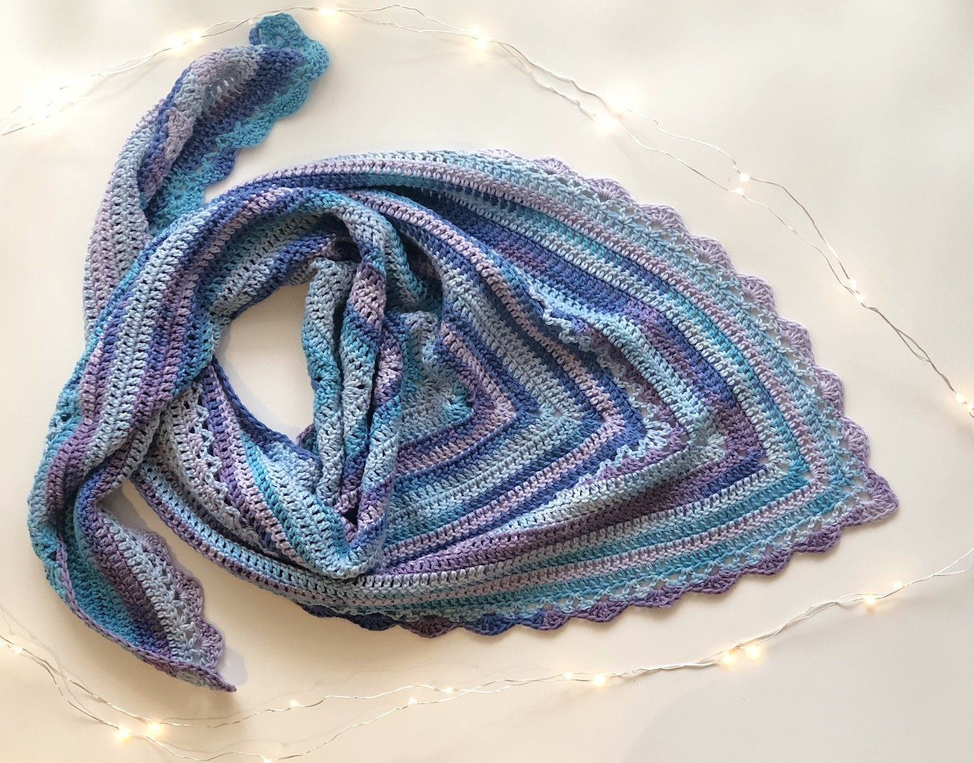 Simply Spontaneous Shawl by Carmela Ann