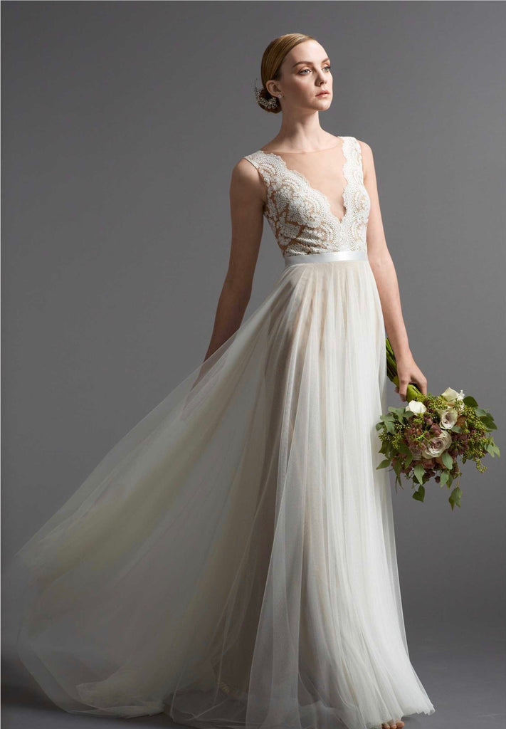 Nordstrom satin wedding dress - Watters