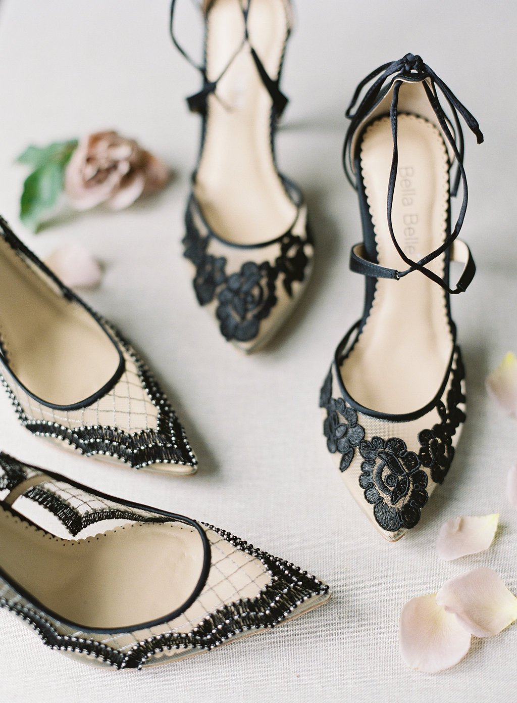 bella belle black evening shoes