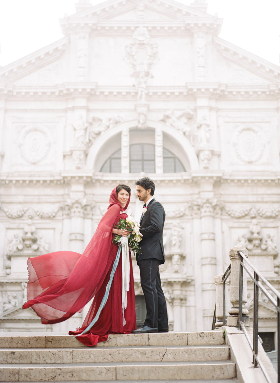 bella belle red valentino wedding inspiration venice shoot