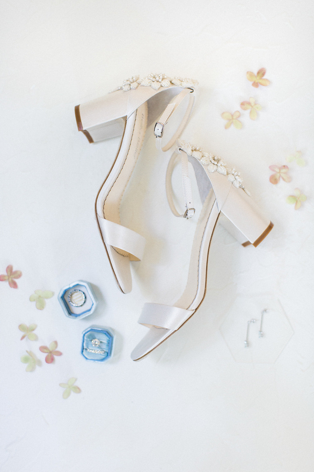 beaded wedding block heel