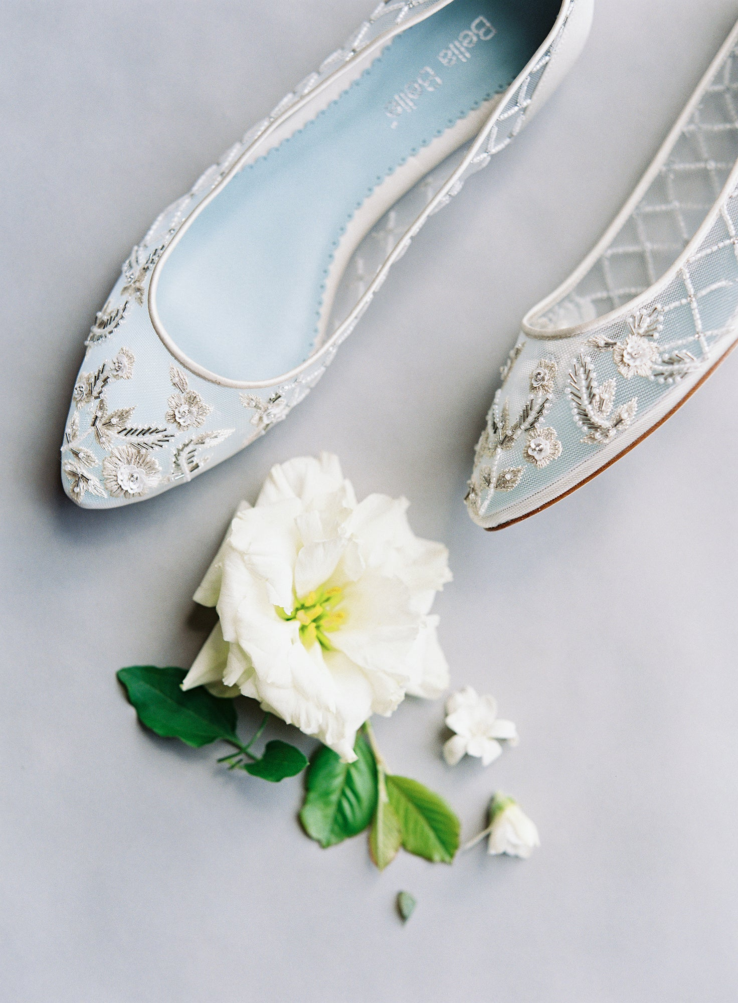 Bella belle allegra COMFORTABLE BEADED WEDDING FLATS