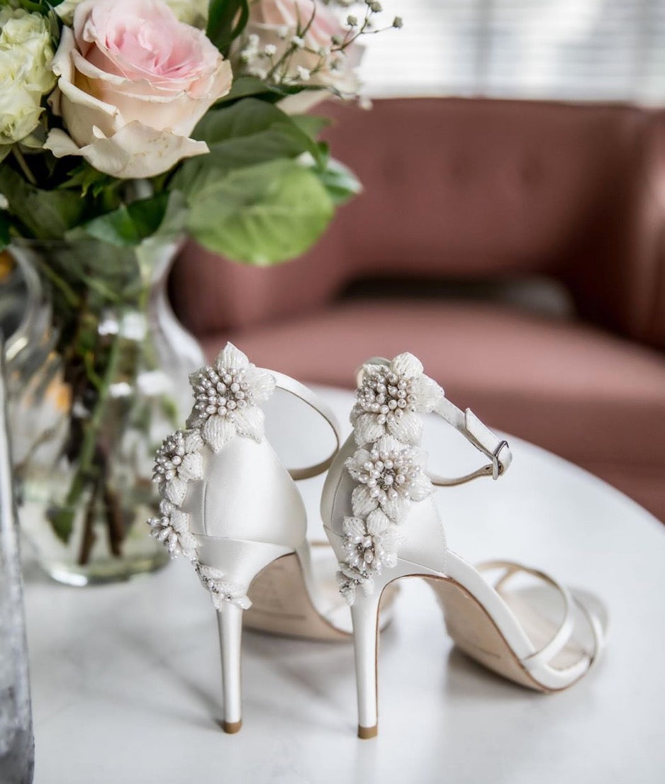 Bella Belle 2020 wedding trends ivory beaded wedding heels