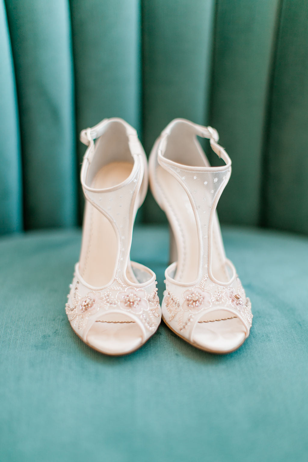 Bella Belle 2020 wedding trends winter wedding open toe wedding shoes