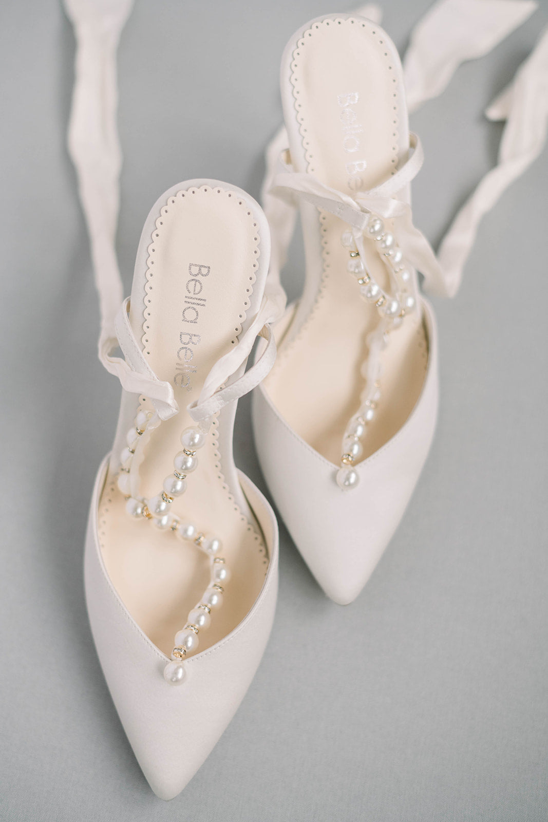 Bella Belle Lisbeth wedding pearl shoe