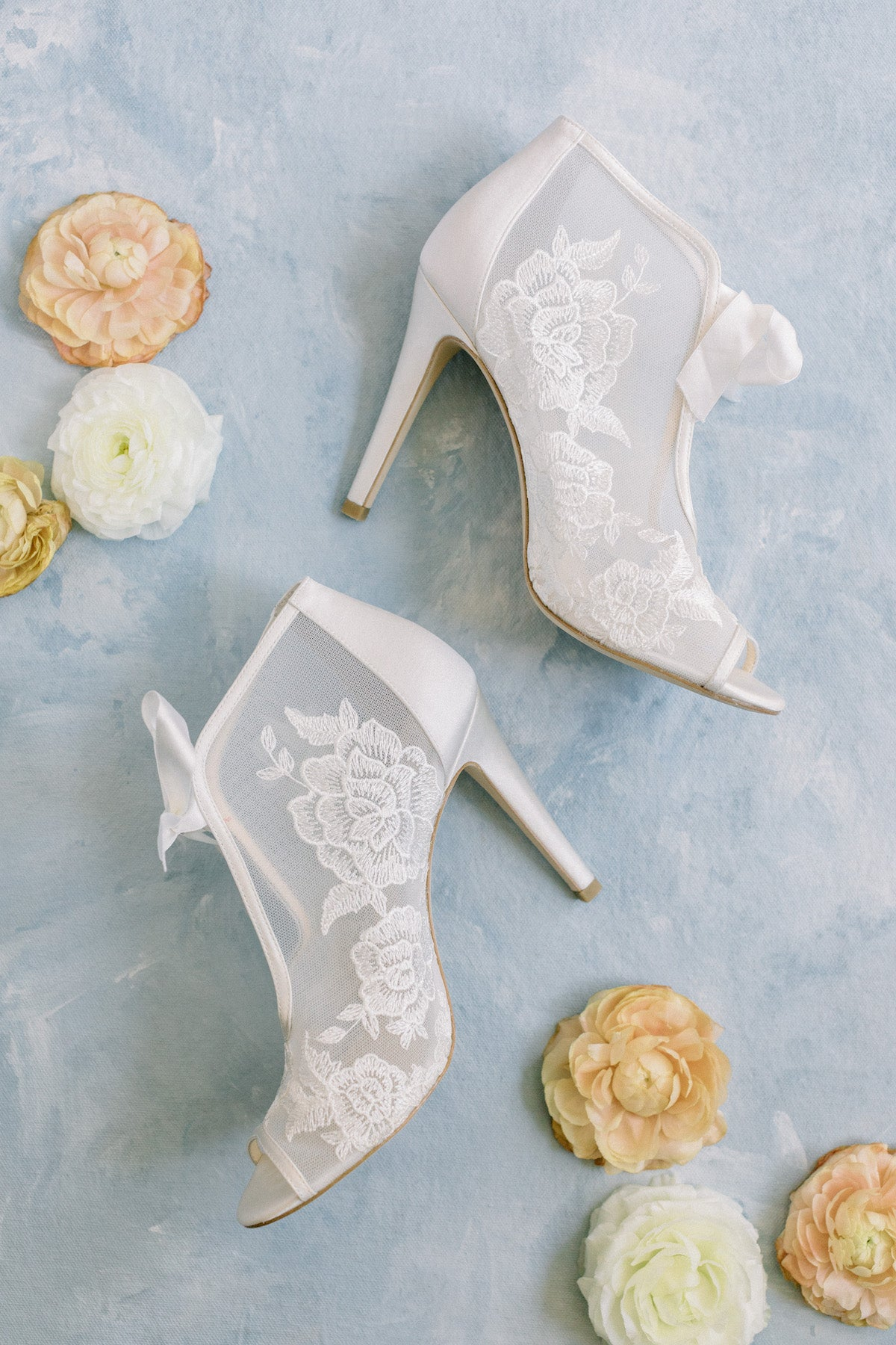 Bella Belle 'Nikki' lace embroidered bootie