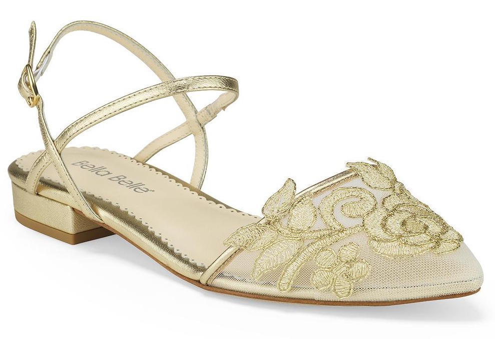bella belle shirley gold lace wedding shoe