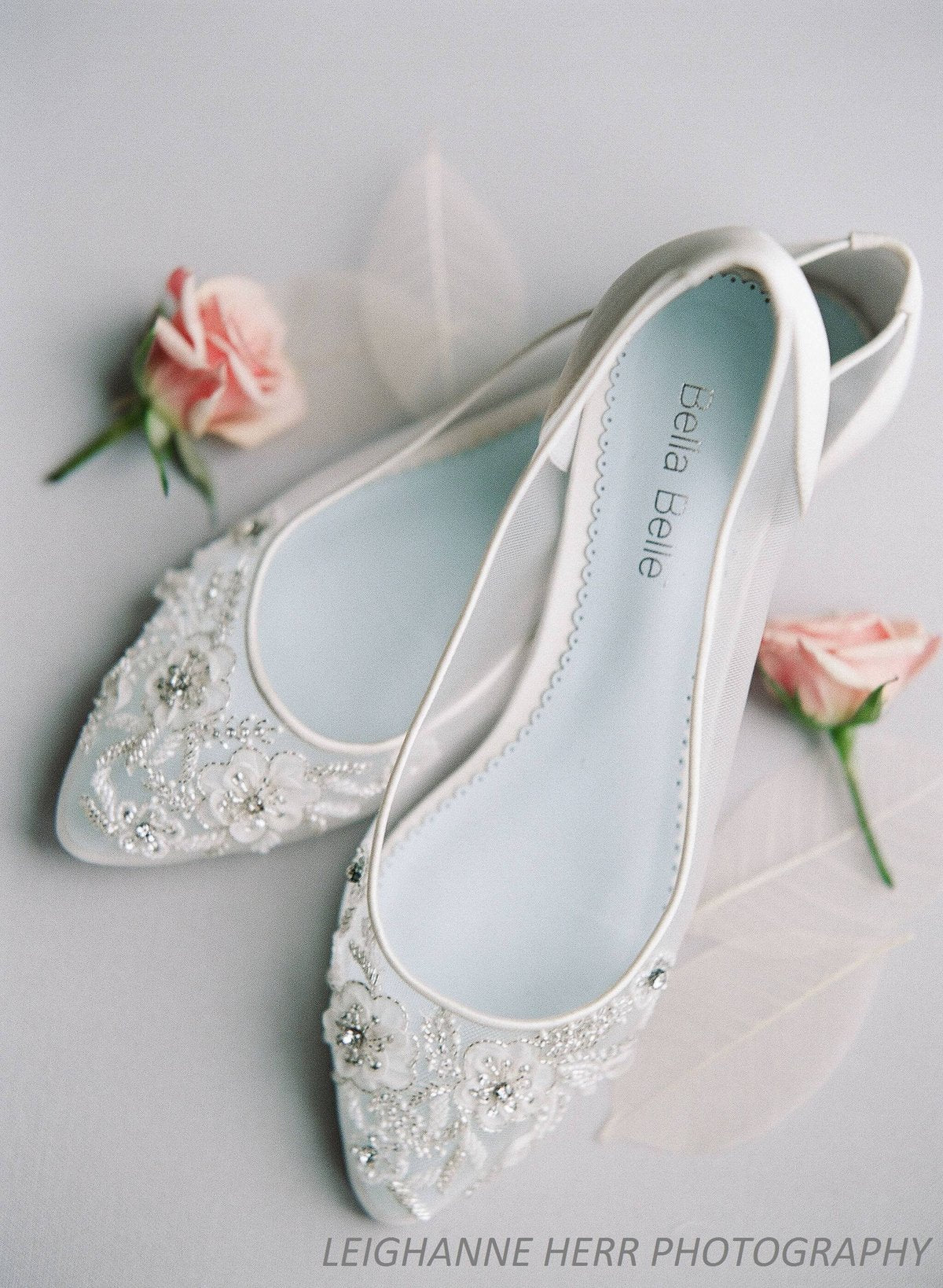 floral beaded wedding flats