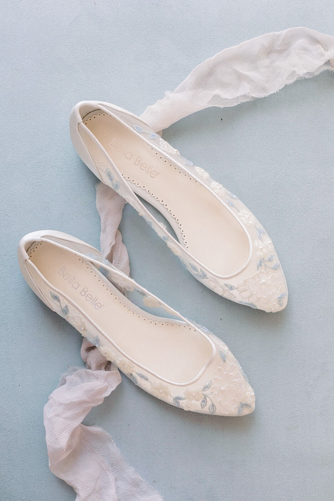 Bella Belle beach wedding shoes blue wedding flats