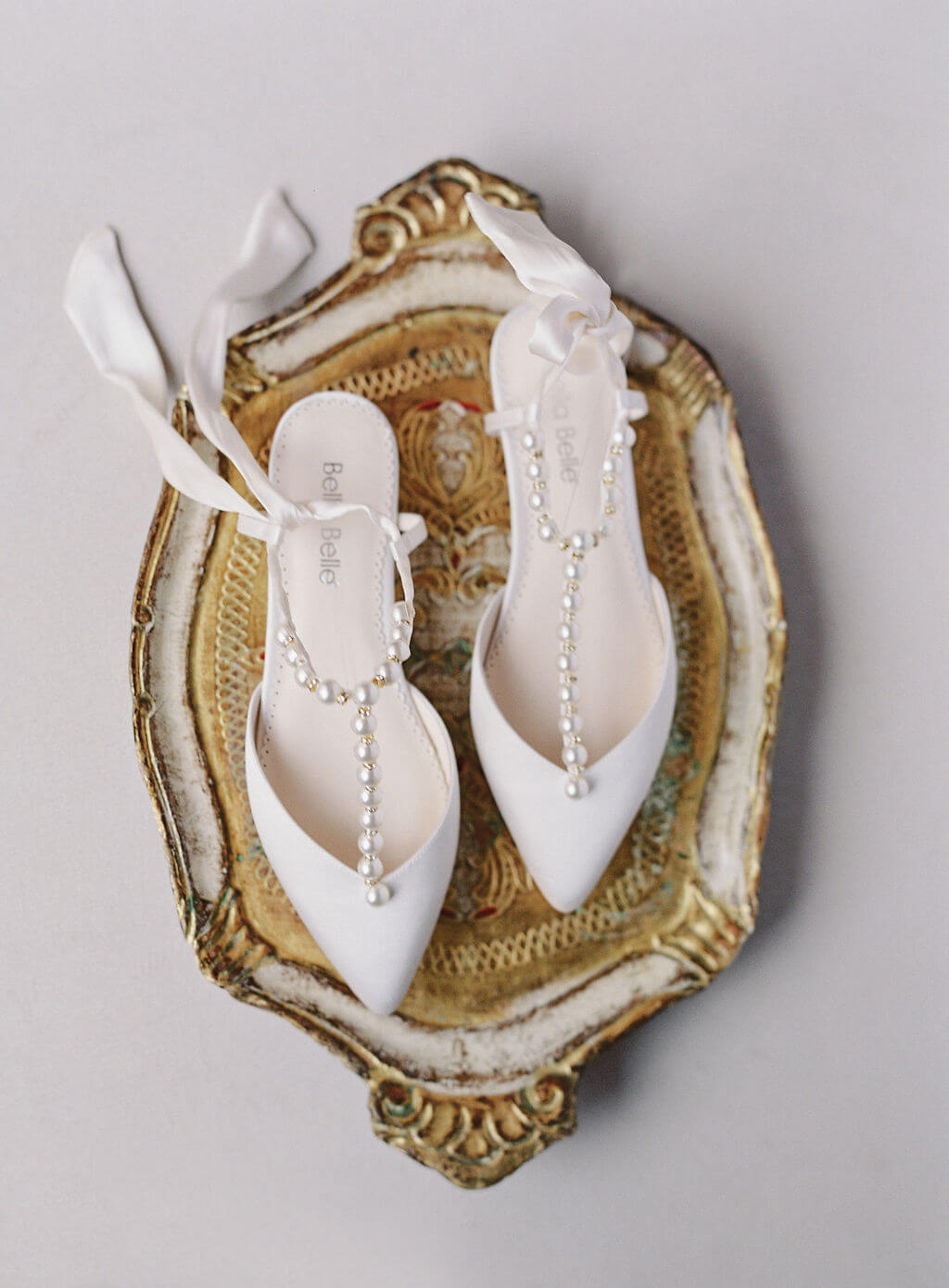 Bella Belle beach wedding shoes pearl wedding flats