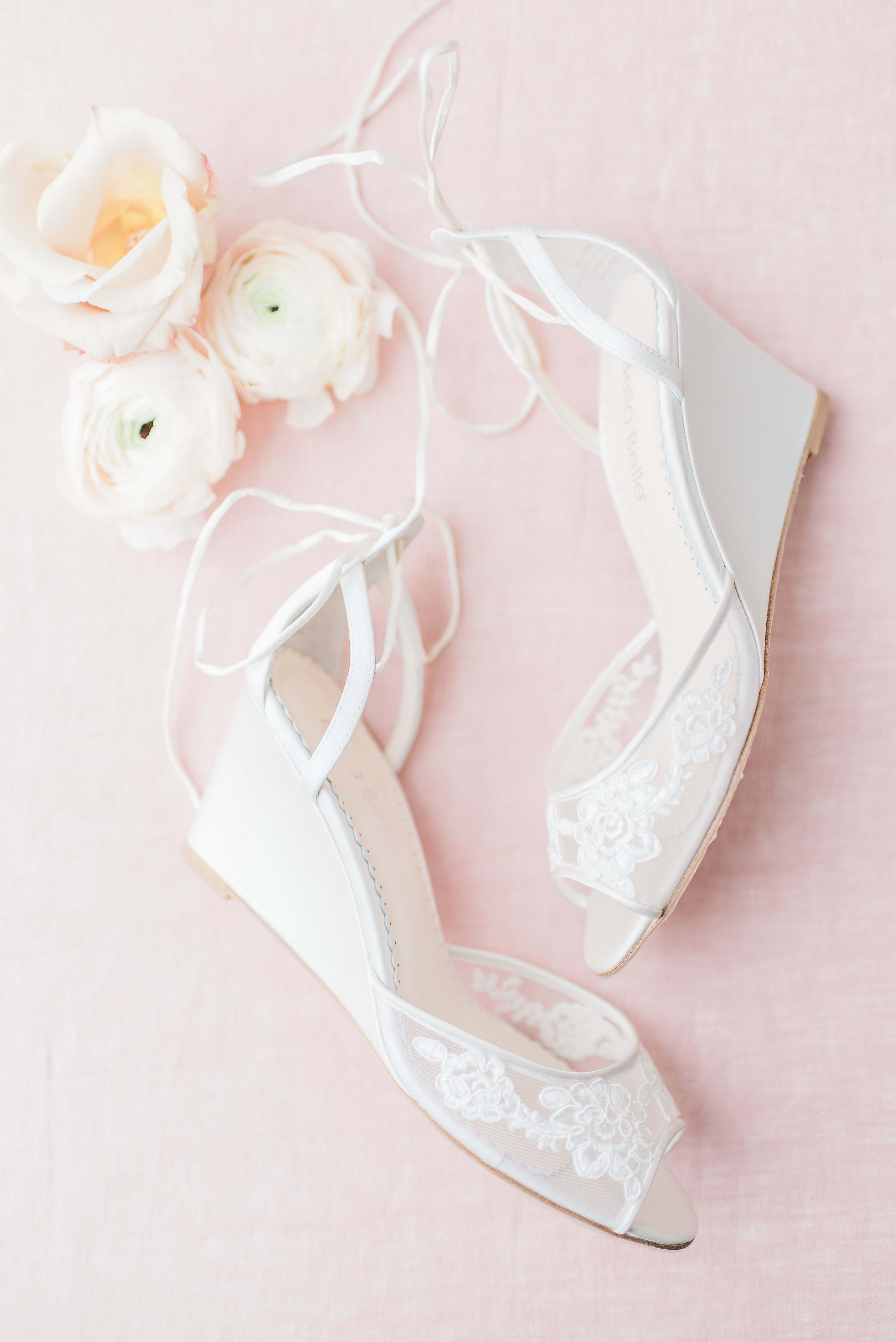 Bella Belle beach wedding shoes lace wedding wedges