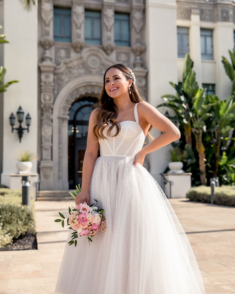 Bella Belle brides city hall wedding dress and shoes 2020 wedding trends