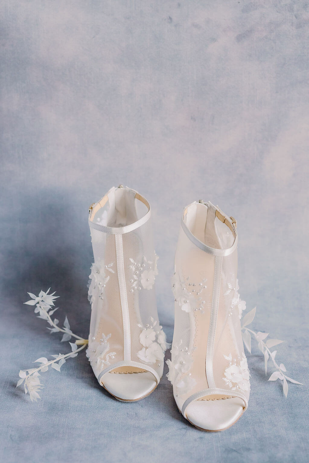 bella belle wedding bootie peep toe