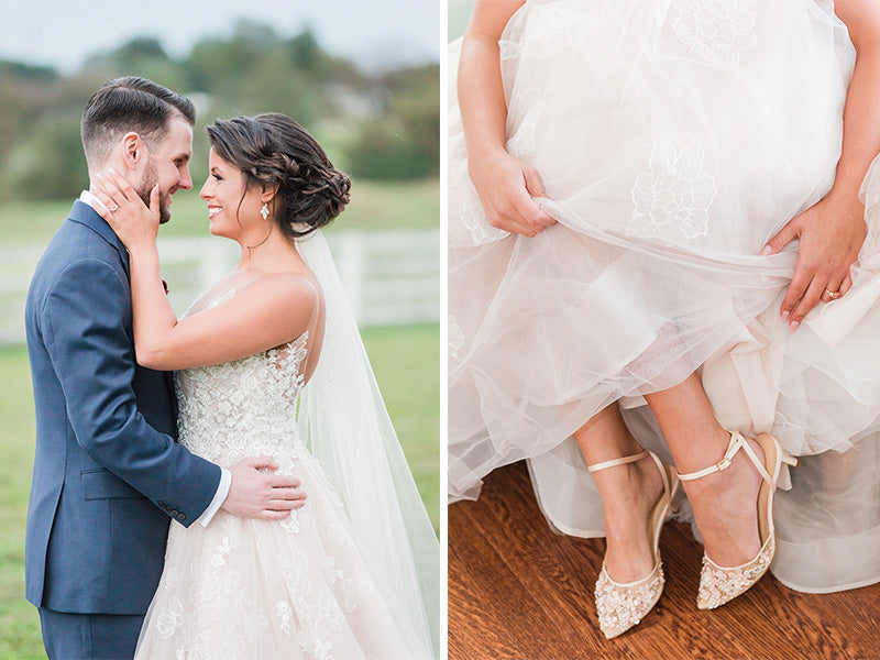 bella belle real bride reviews christine in rosa blush wedding heel
