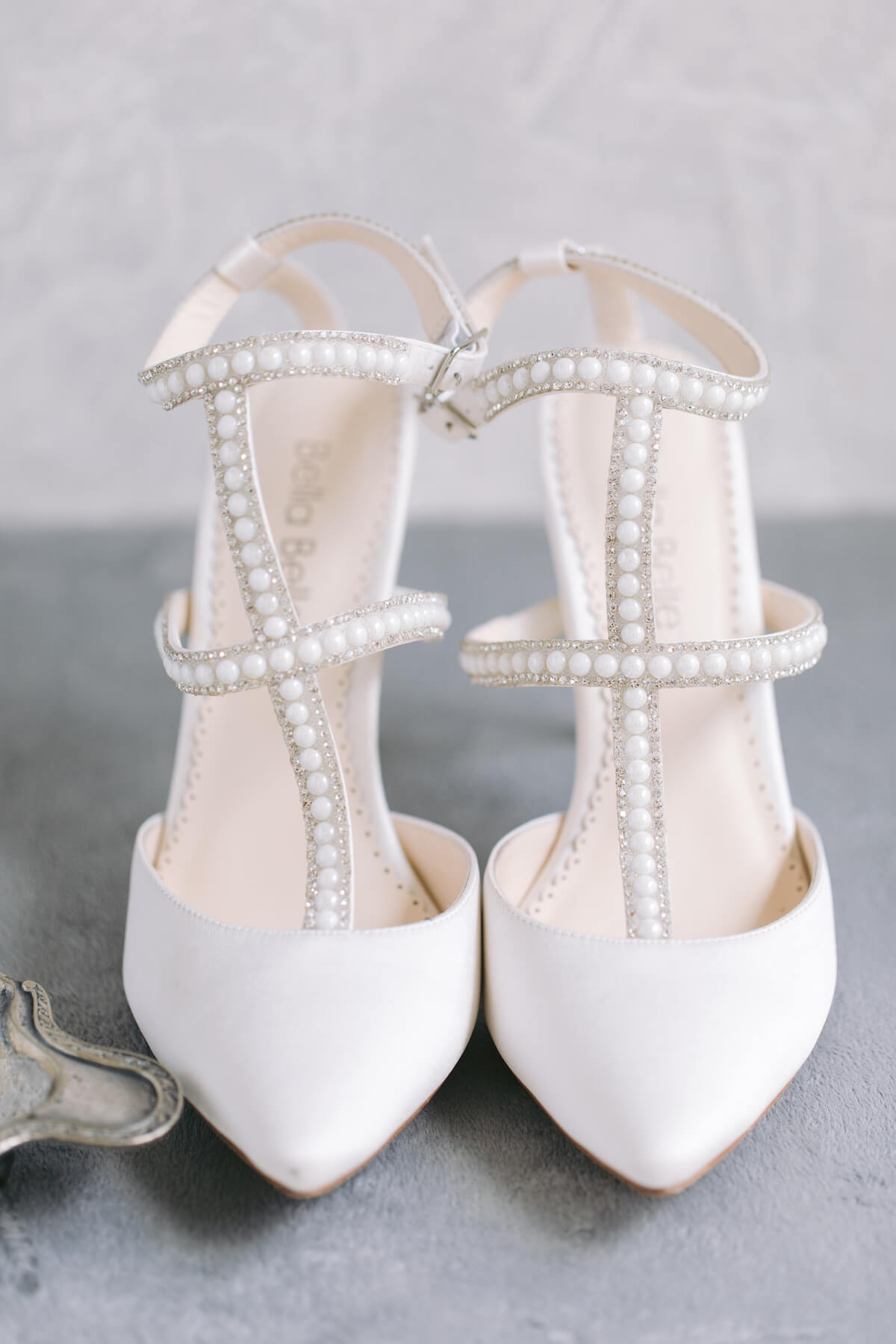 bella belle ivory pearl wedding shoe little white dress