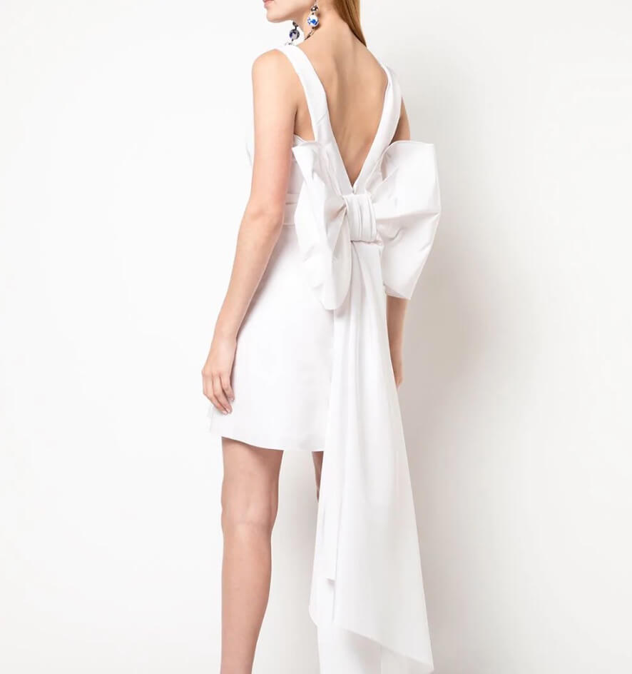 carolina herrera bow short wedding dress