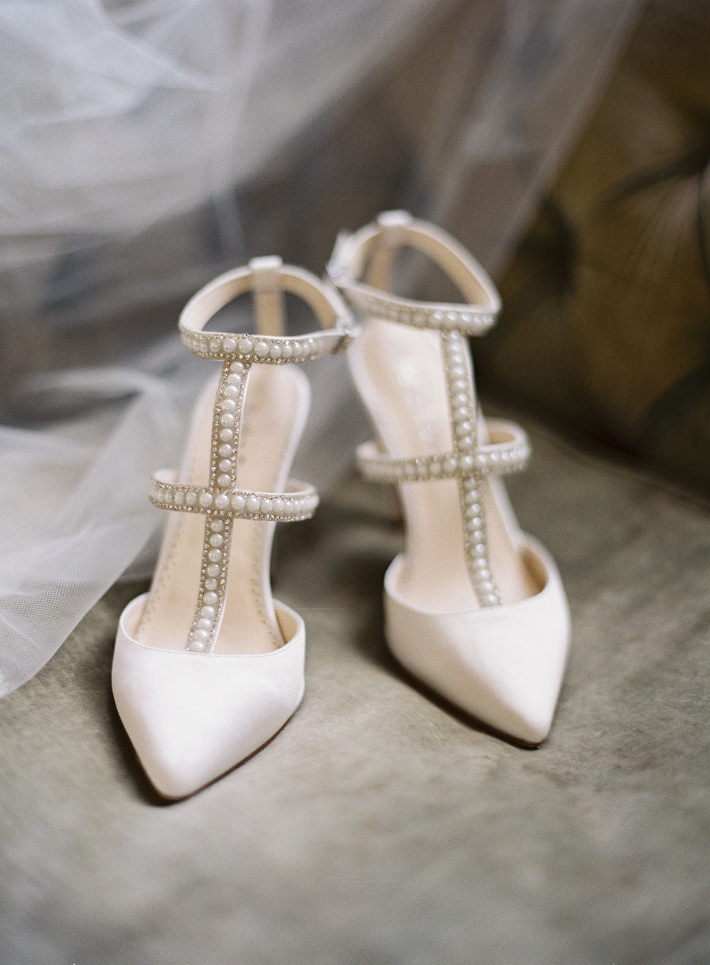 Carolina T-strap wedding heel