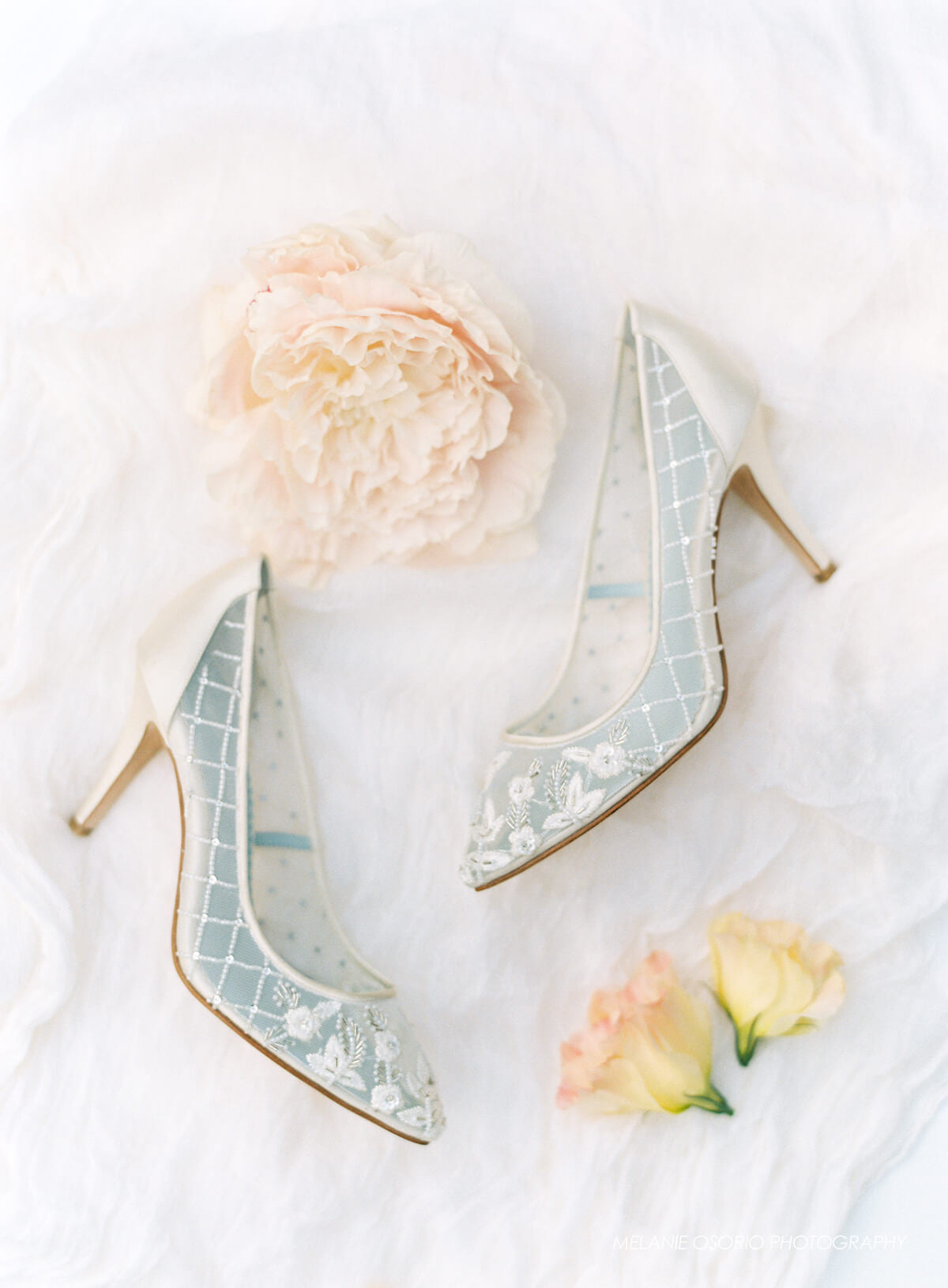 sexy sheer illusion wedding shoes
