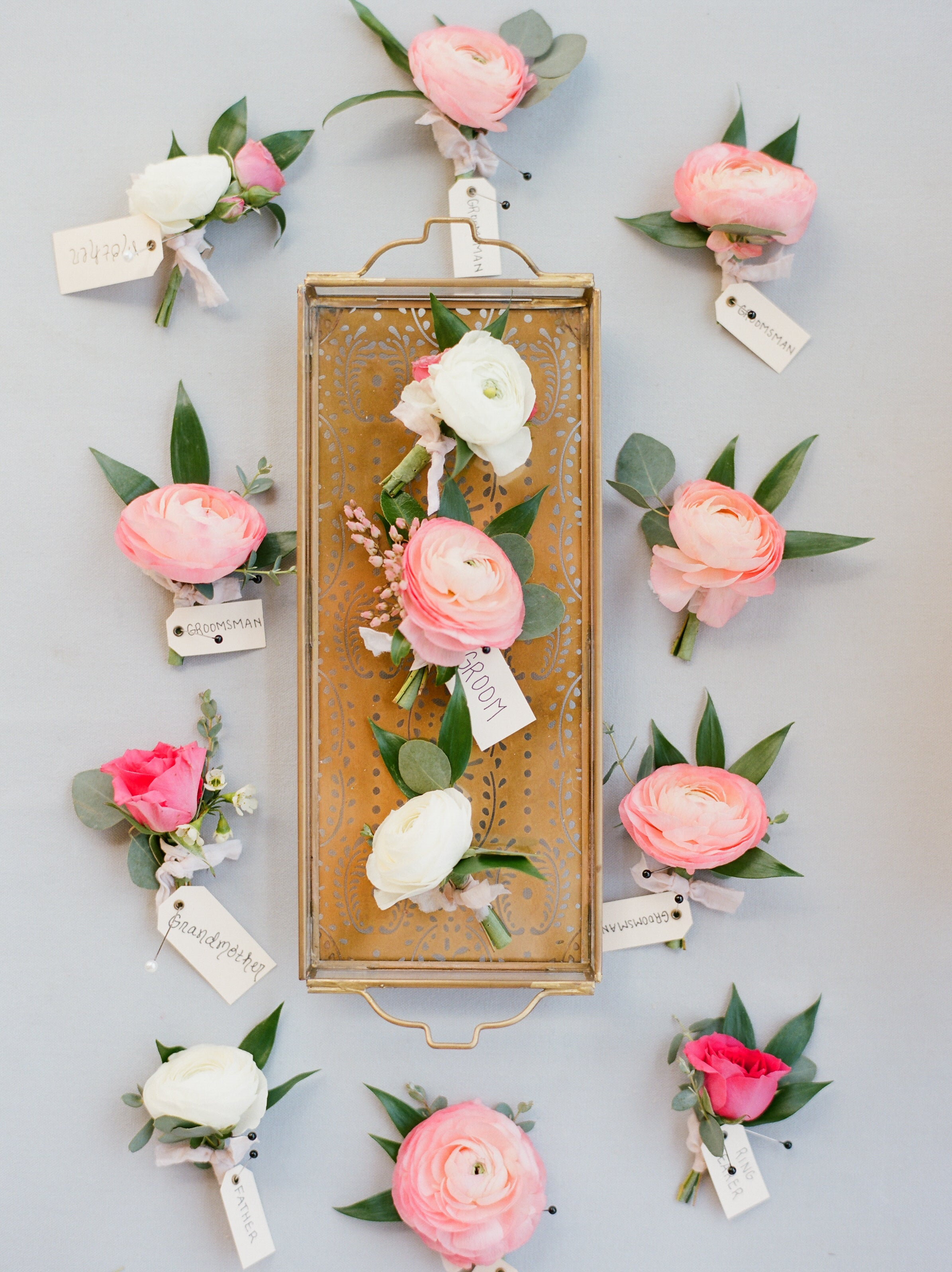 Blush floral decor