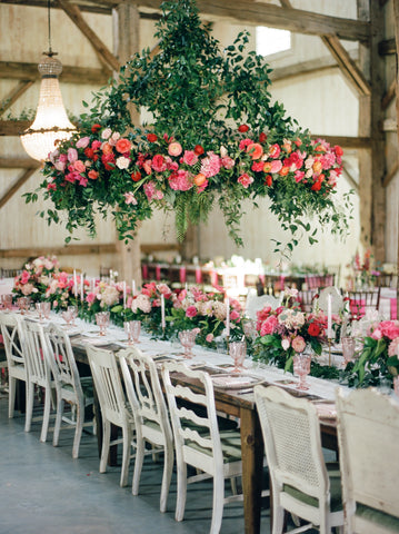 Chandelier Grove wedding reception