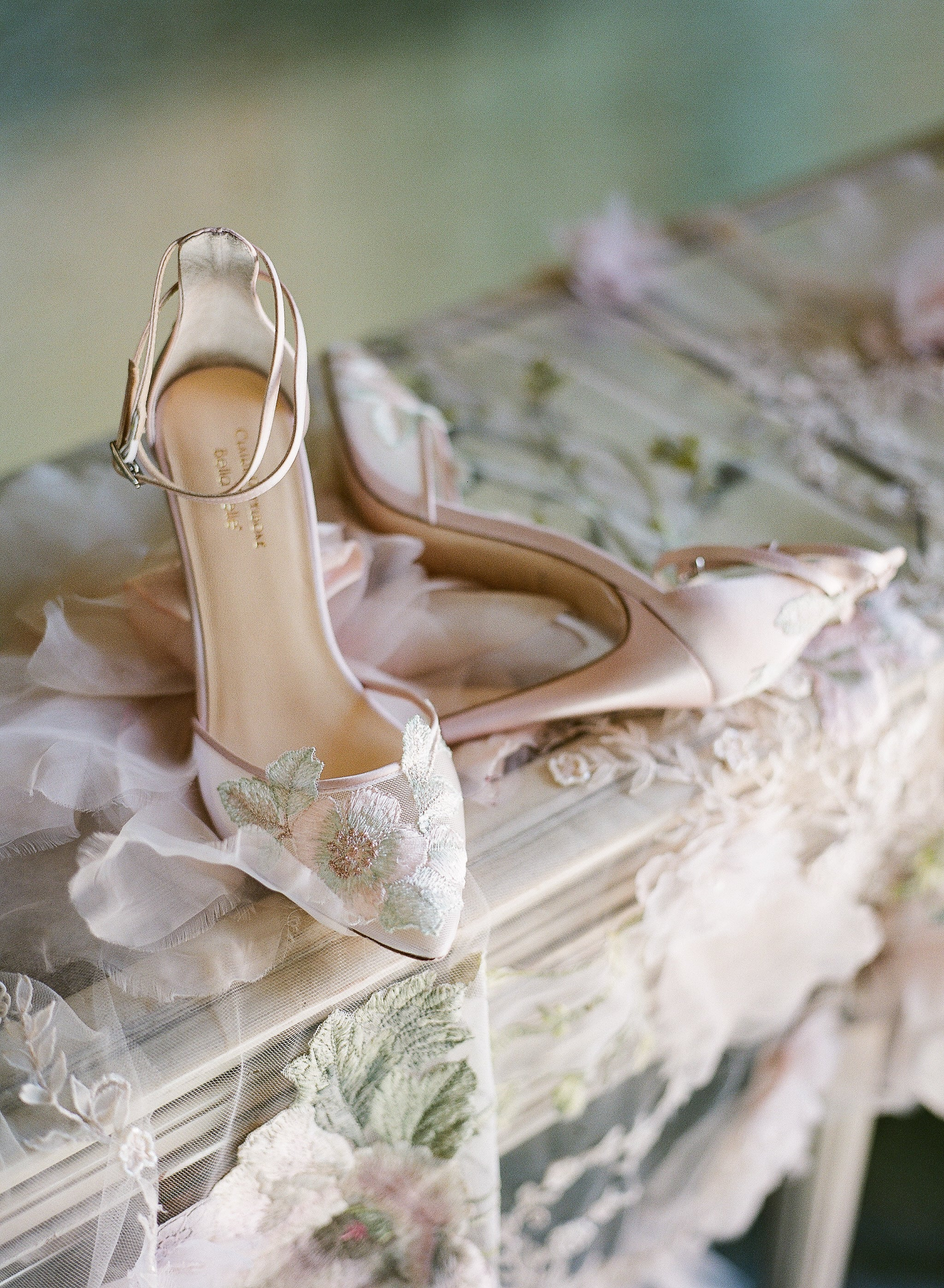 bella belle shoes flora blush rose gold wedding shoe