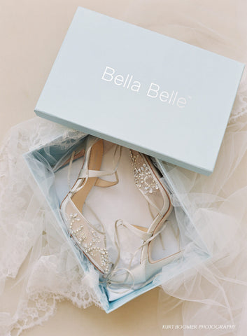 Bella Belle Shoes Something Blue Sexy Glamour Florence Beading Rhinestones Ankle Wrap Ties Pointy Toe