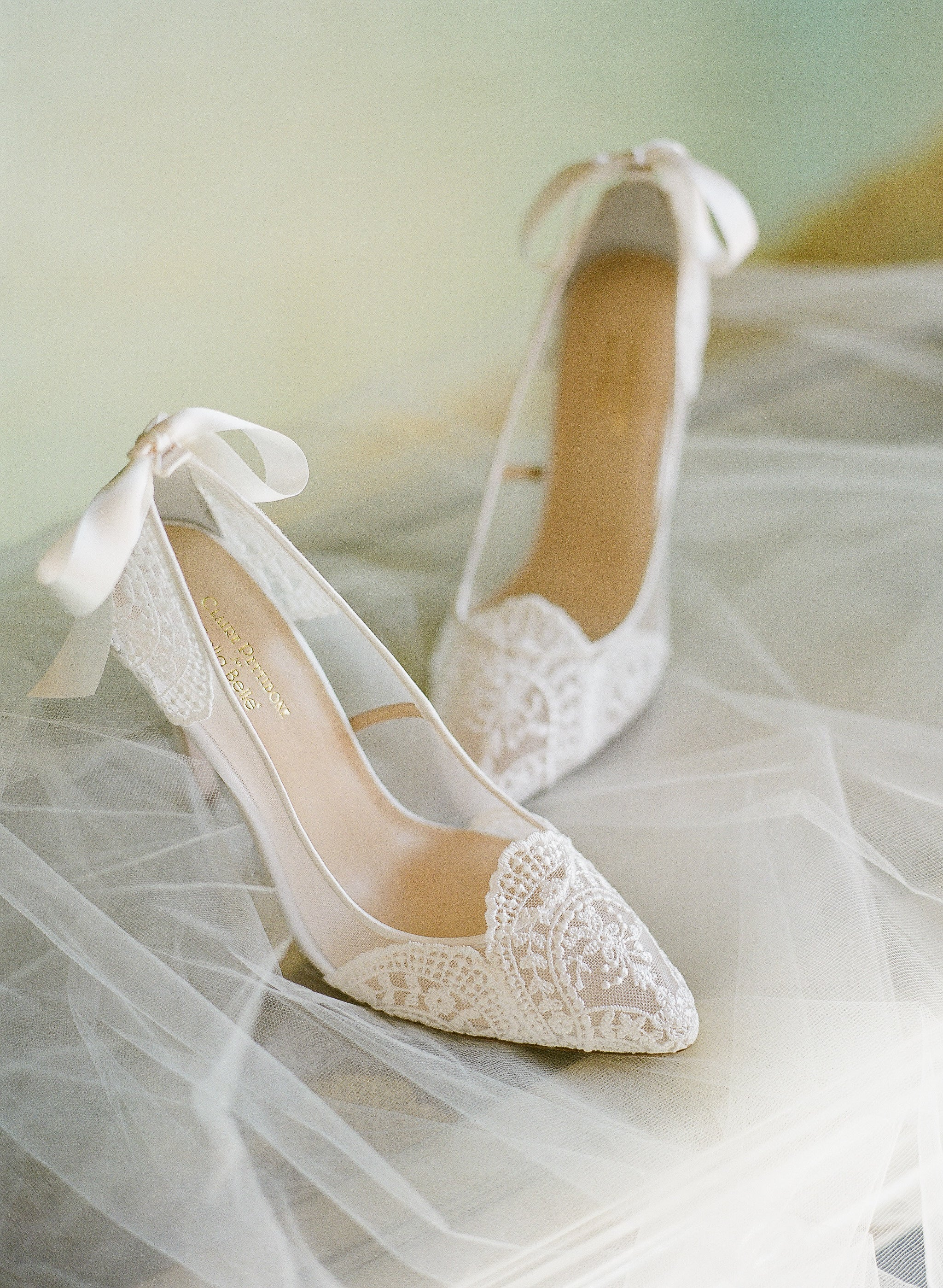 bella belle shoes claire pettibone giselle ivory lace wedding pumps