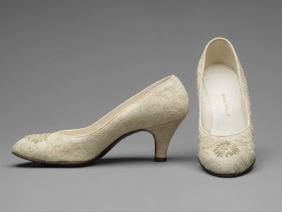 grace kelly wedding shoe