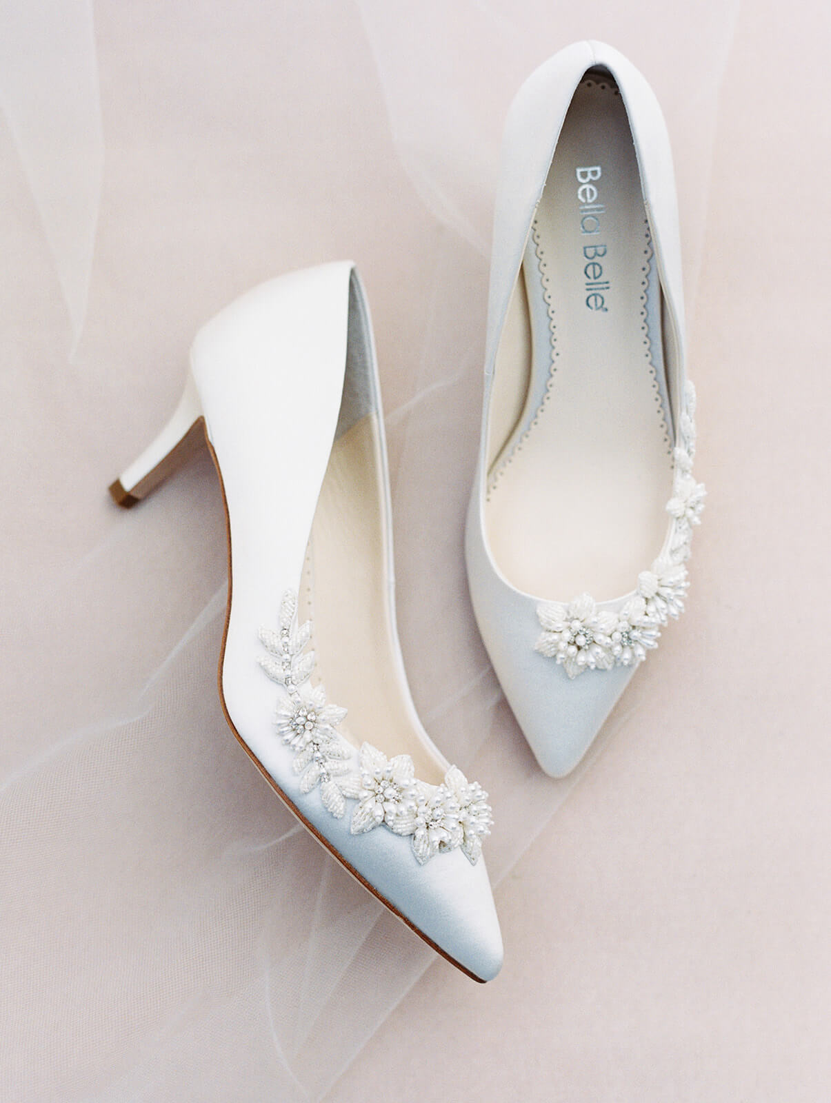 bella belle iris low heel wedding pump
