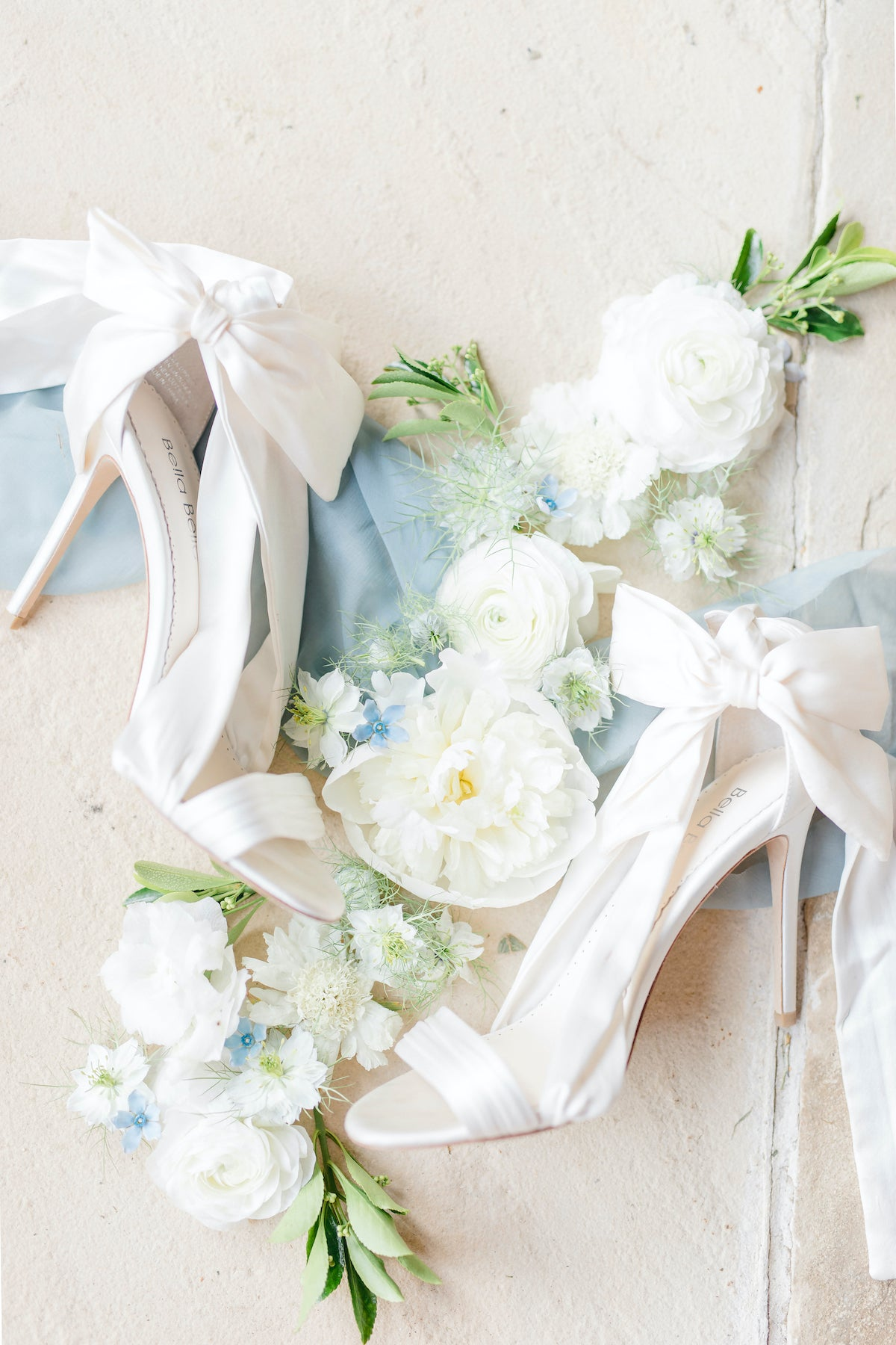 Kate ivory wedding heel with a criss cross silk ribbon