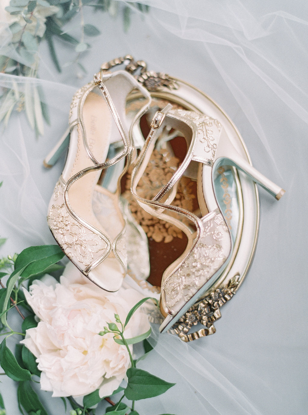 bella belle tess gold lace embroidered wedding shoe