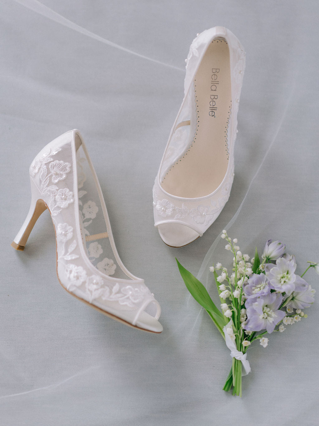 bella belle shoes emily peep toe lace wedding shoe