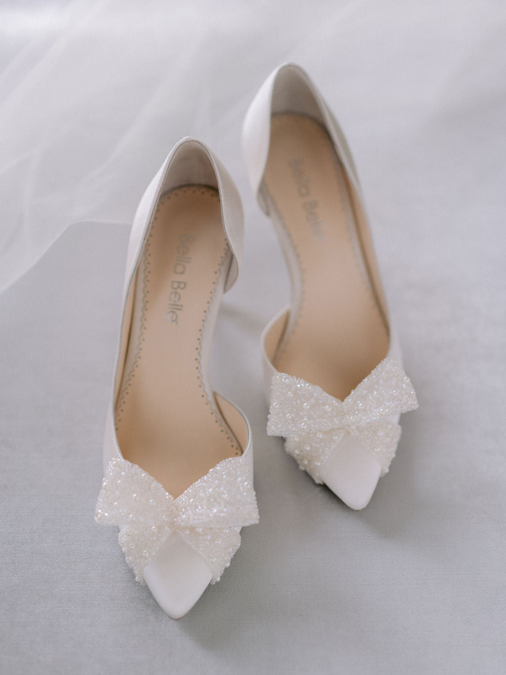bella belle shoes dorothy beaded bow wedding pump