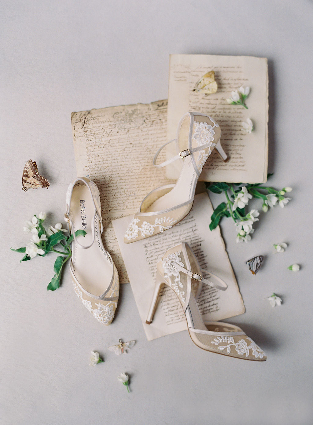 bella belle shoes nude lace wedding shoes