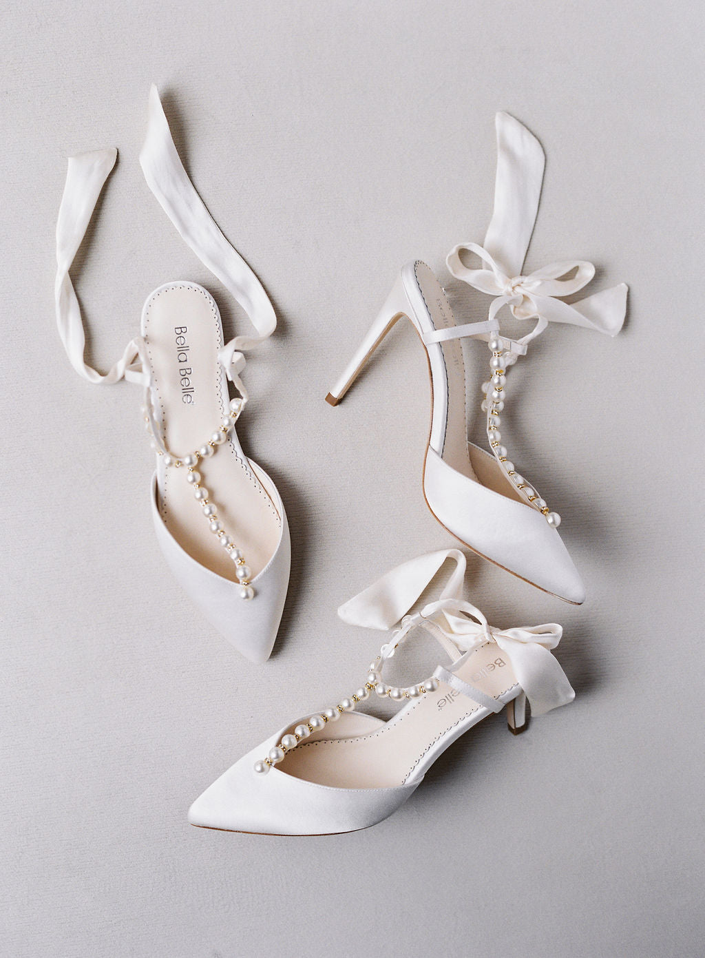 bella belle shoes ivory pearl silk bow wedding shoe