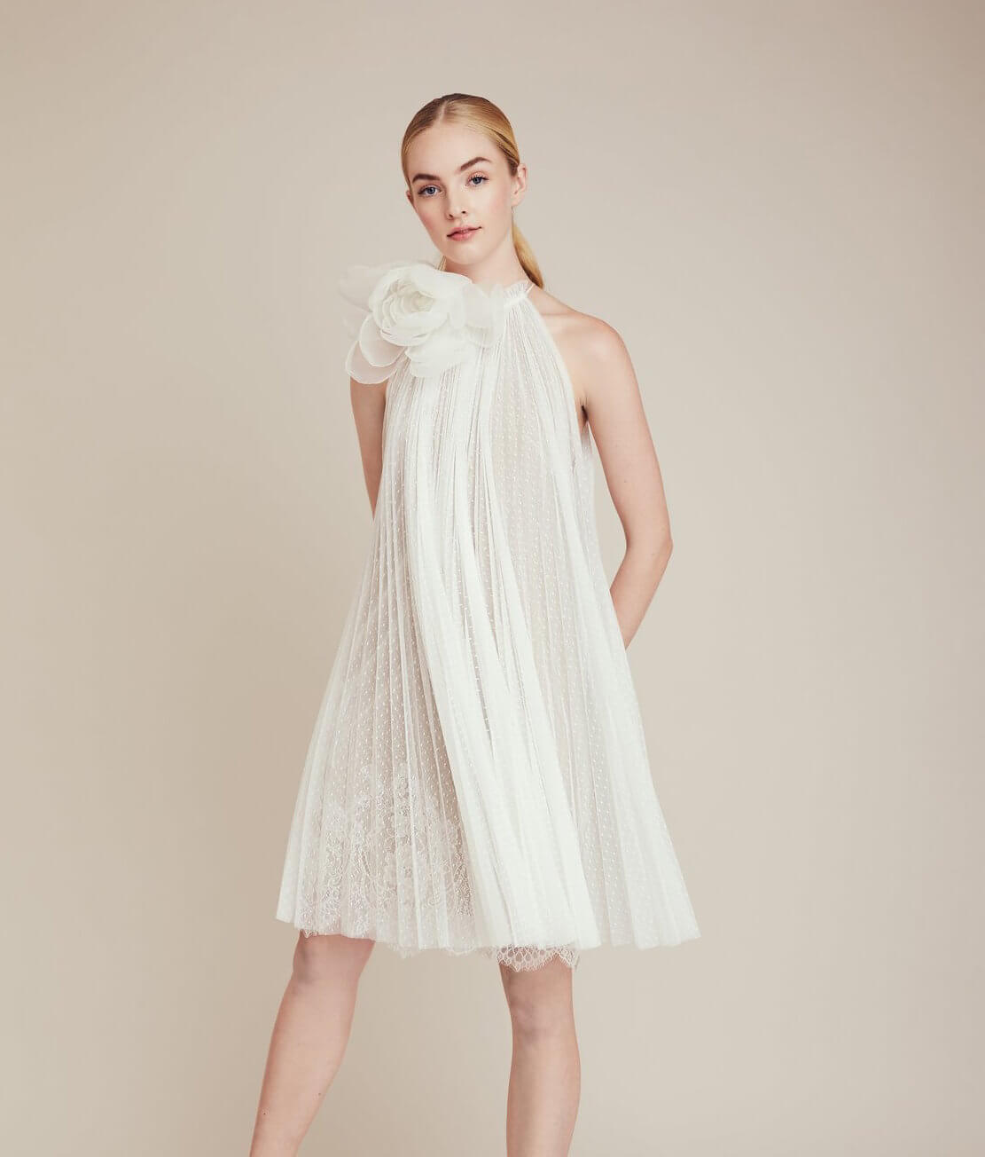 lela rose little white dress