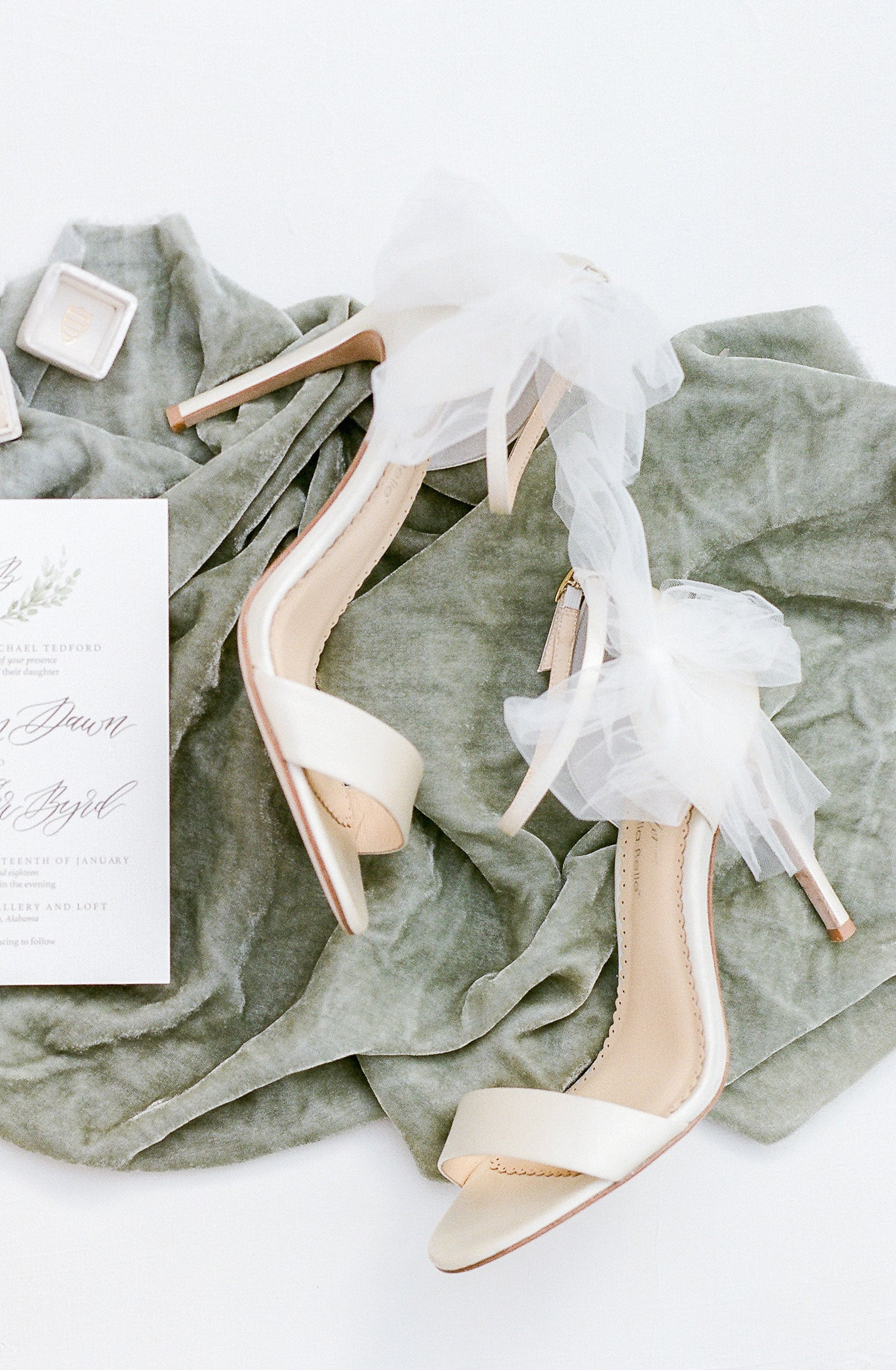 bella belle elise bow tulle ivory wedding shoe