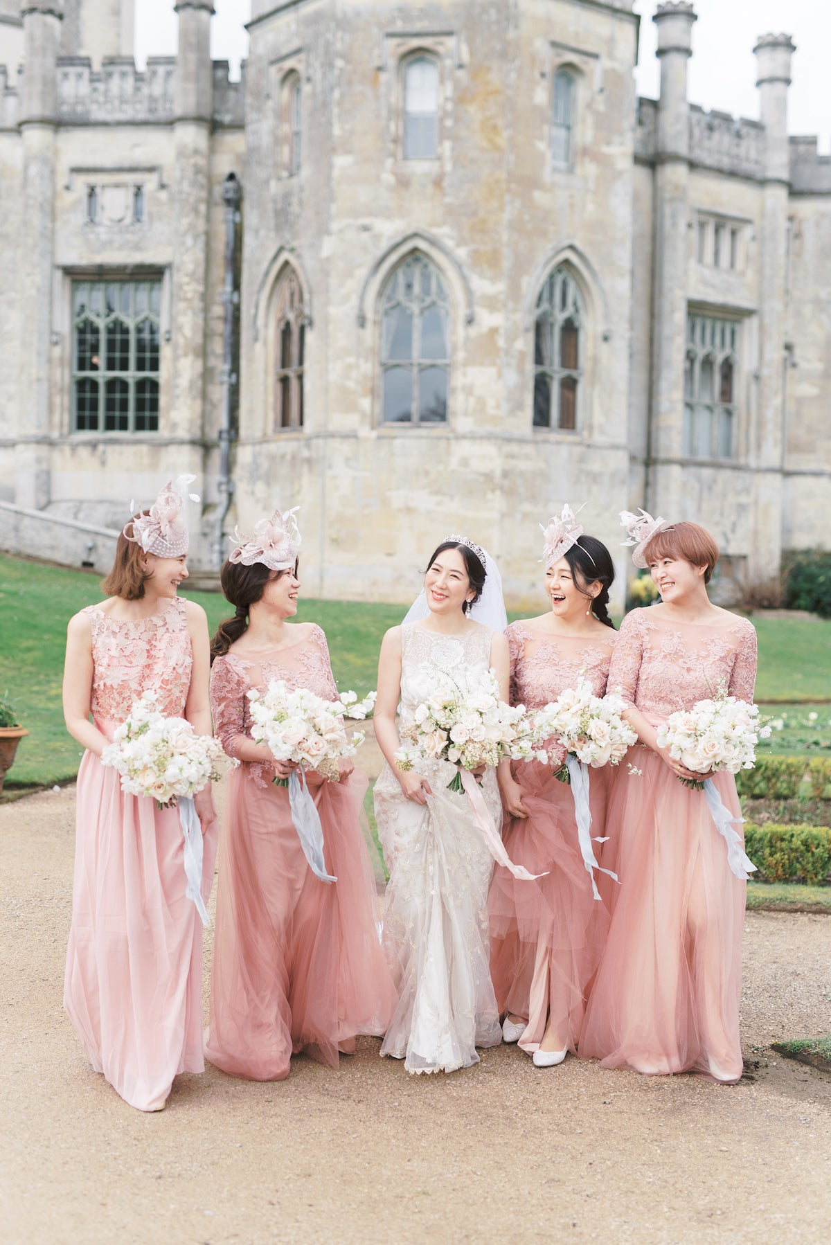 bella belle real brides sonoko with her bridesmaids london uk